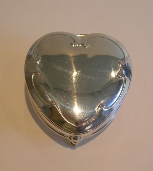 antique english heart shaped jewelry trinket box chester 1906