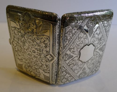 stunning english sterling silver wallet style card case 1920