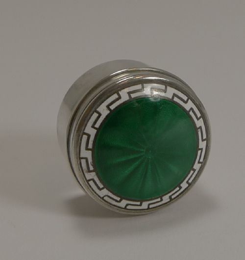 antique english sterling silver and enamel box