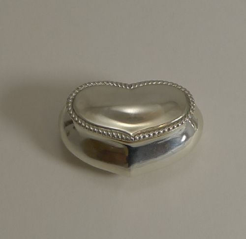 antique english sterling silver heart pill box 1902