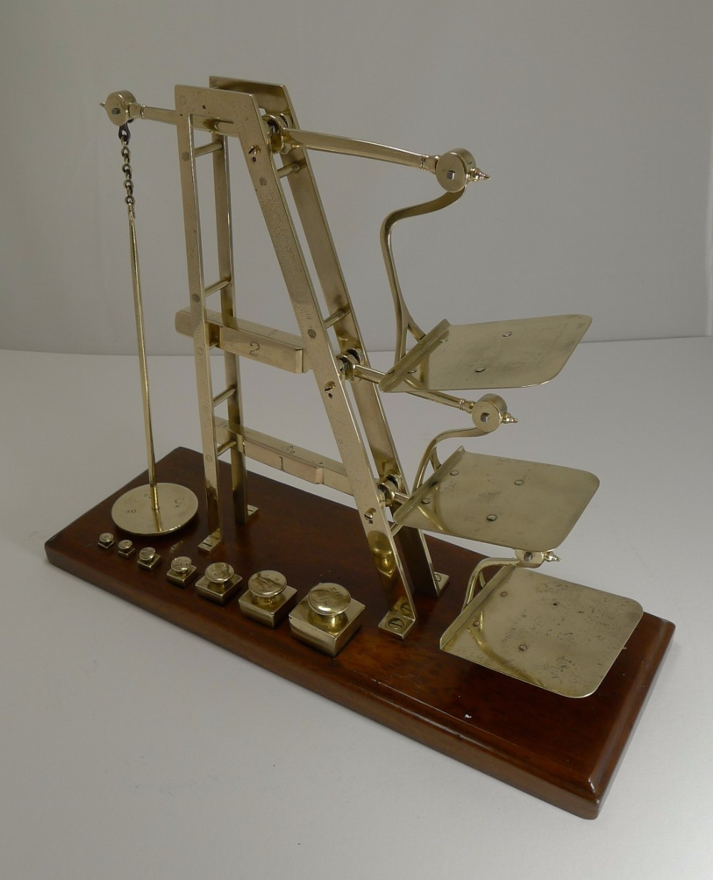 rare antique english gpo triple ladder postal letter scale c1870
