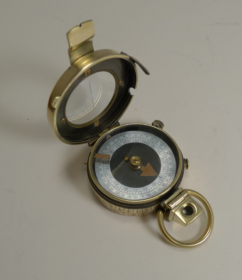 ww1 1918 british army officer's compass verner's patent mk viii by sampson mordan