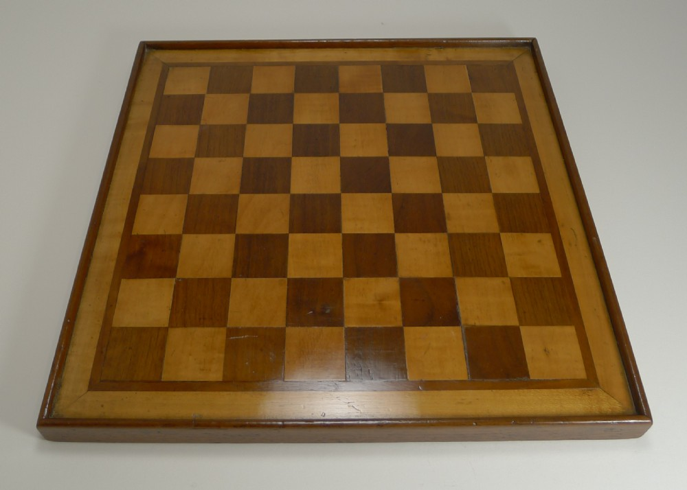 antique english chess board c1915