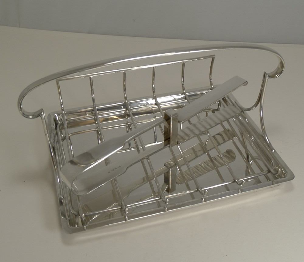 antique english silver plated asparagus serving dish c1910 by mappin and webb