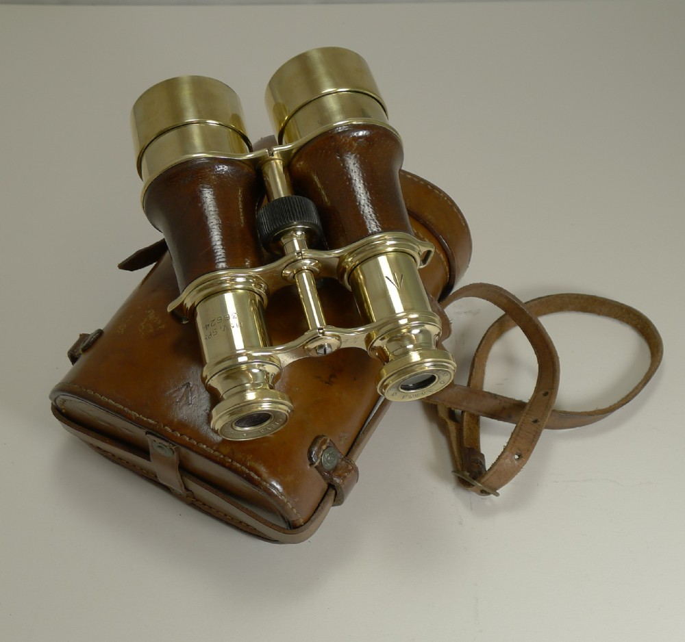 ww1 issued antique french binoculars signed l petit paris