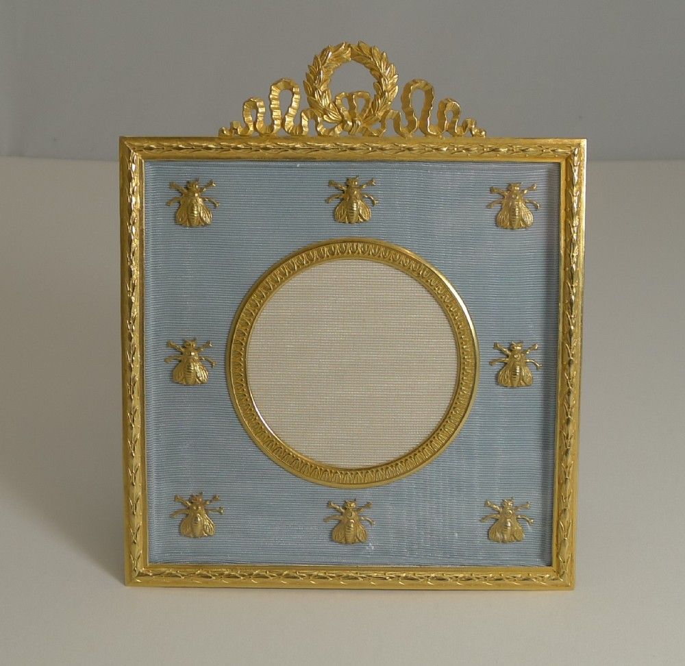 french gilded bronze photograph picture frame napoleonic bees