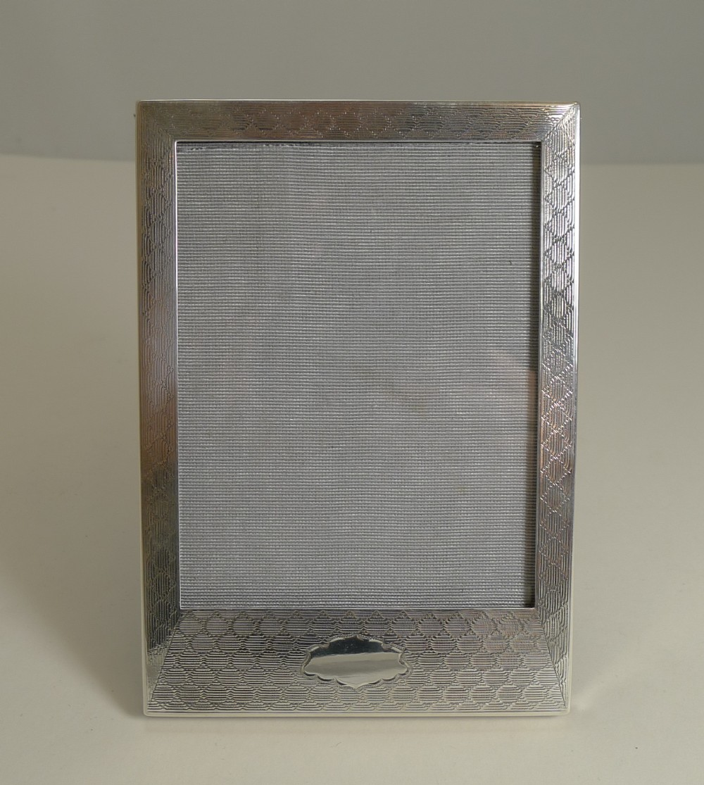 smart english sterling silver photograph picture frame 1927