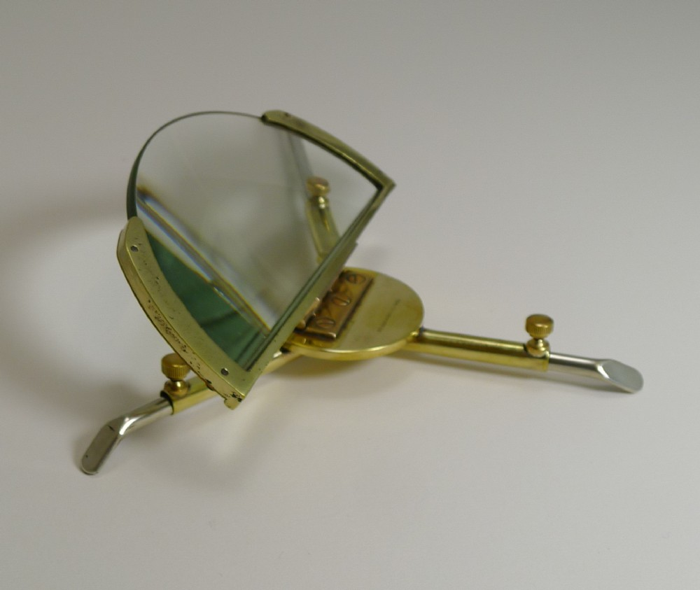 unusual folding adjustable magnifying glass webber patent c1900