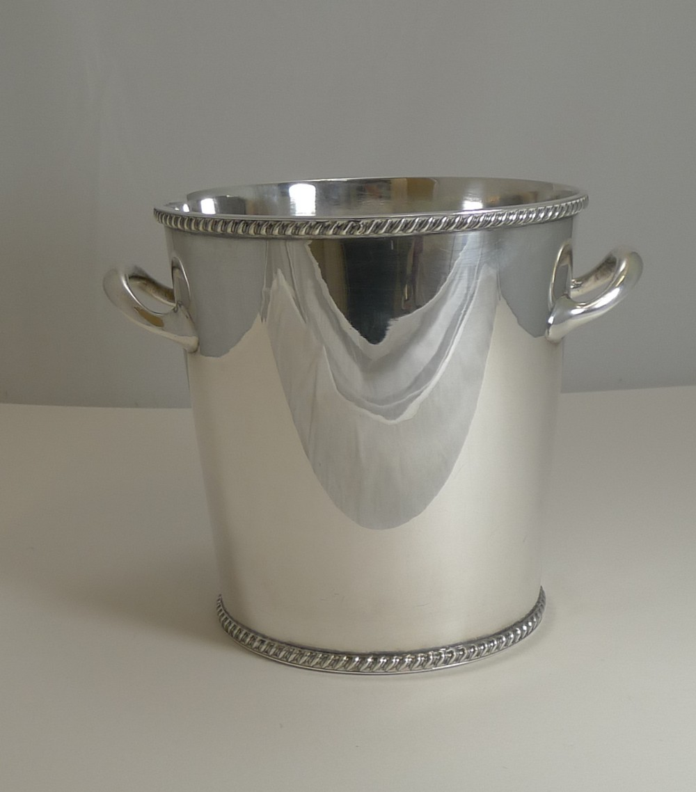 vintage english art deco wine cooler champagne bucket c1930