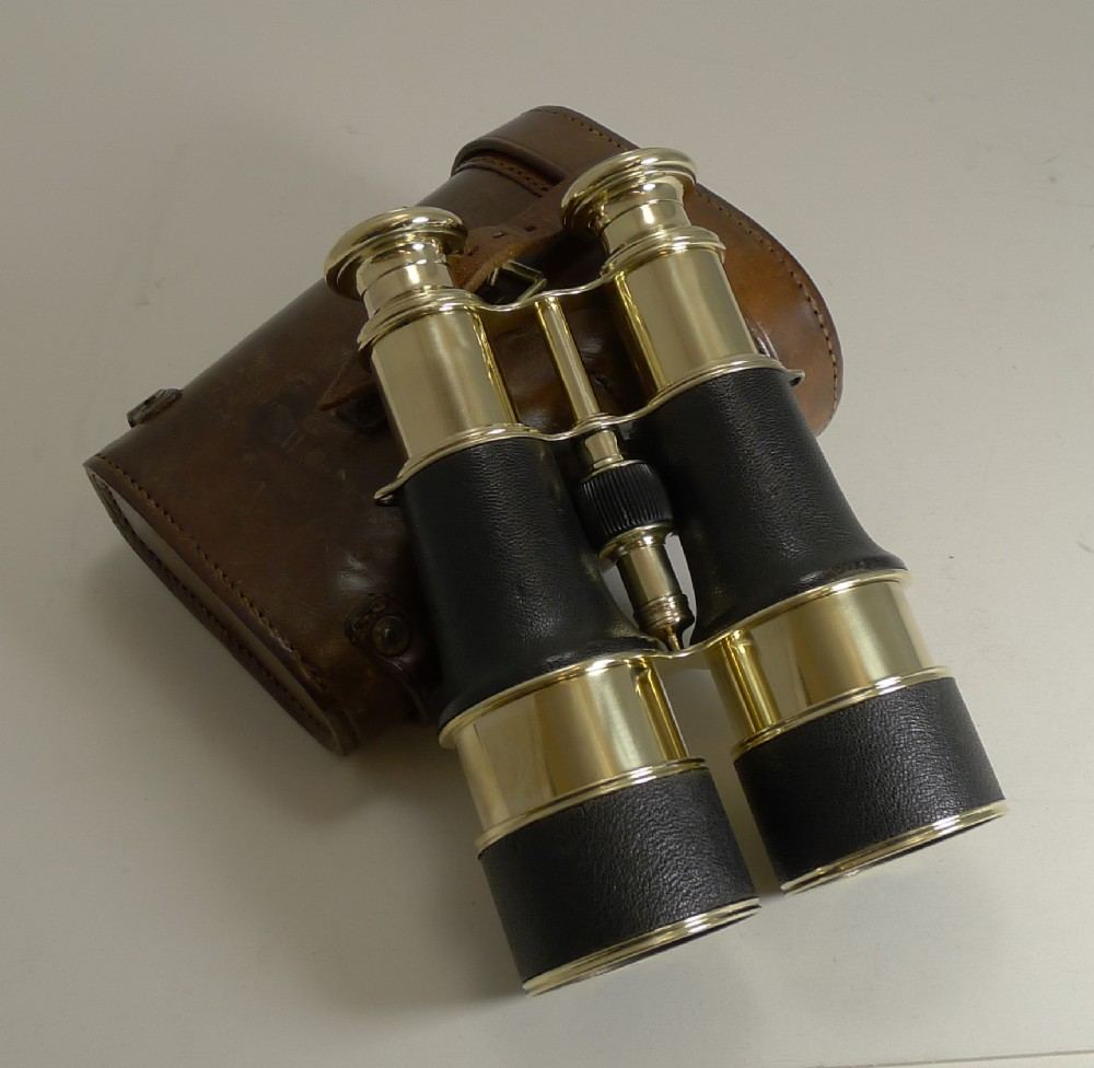 superb pair ww1 binoculars and case british officer's issue 1916 lemaire paris