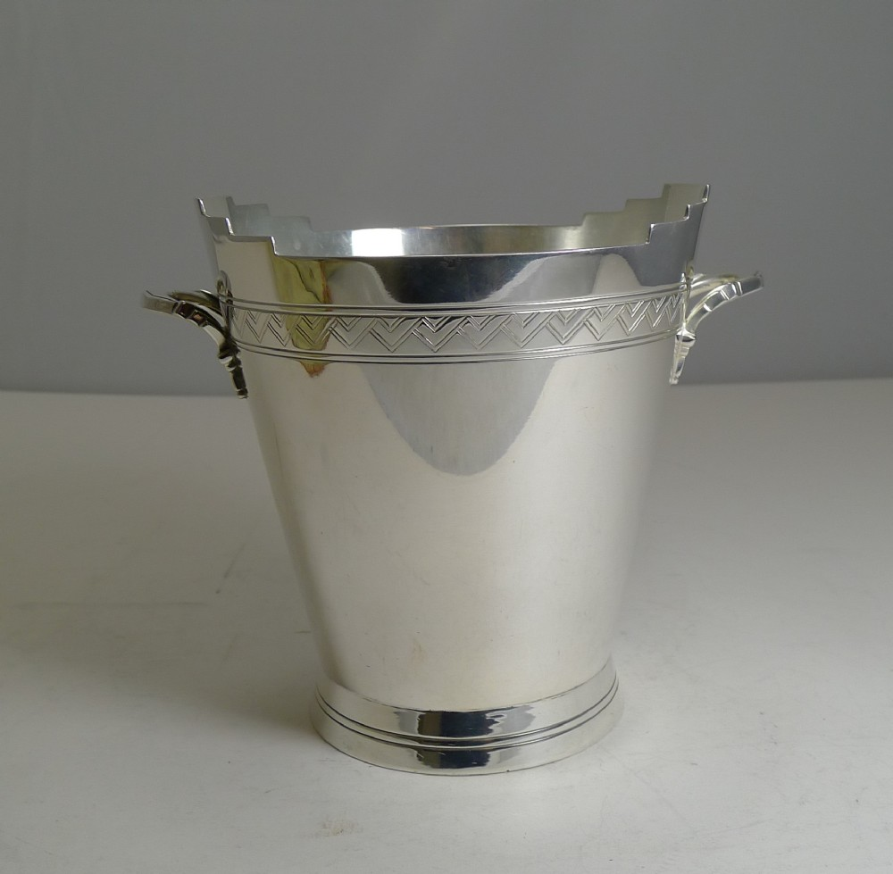 art deco ice bucket keith murray for mappin webb c1930