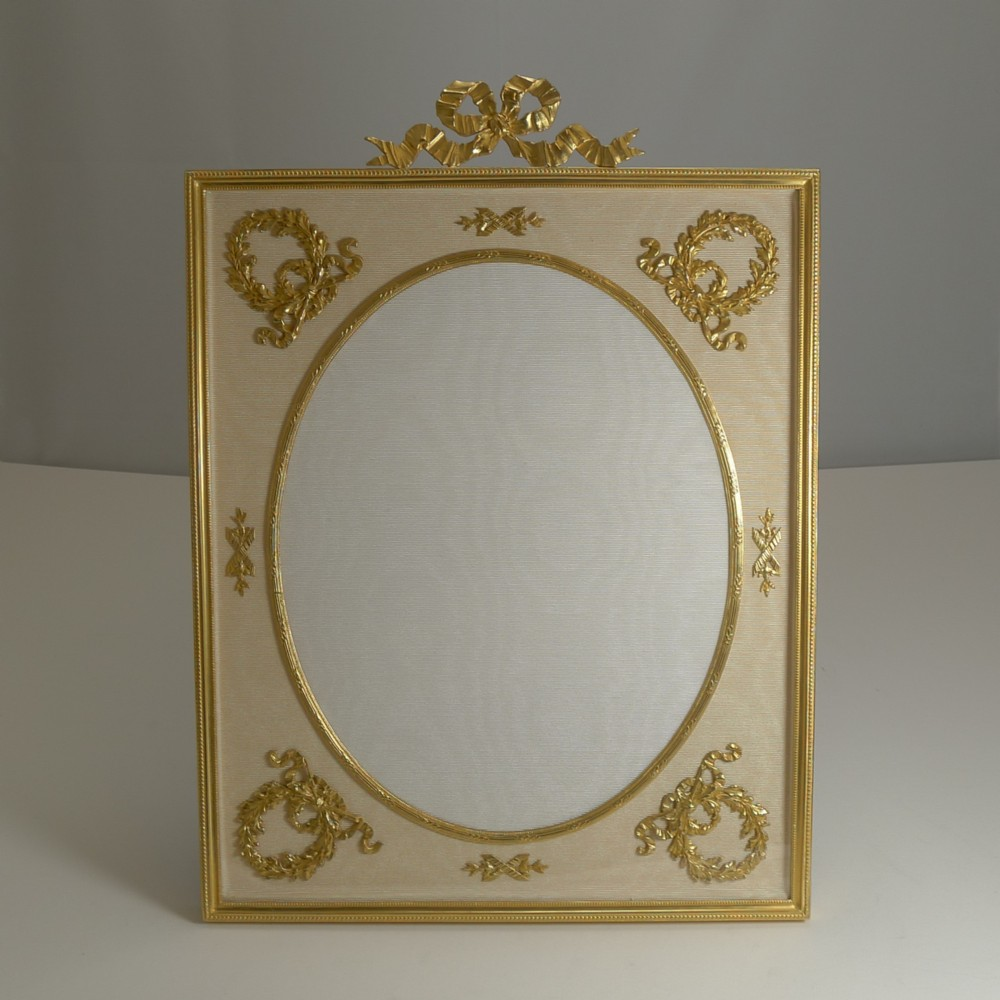 grand french gilded bronze photograph picture frame c1900