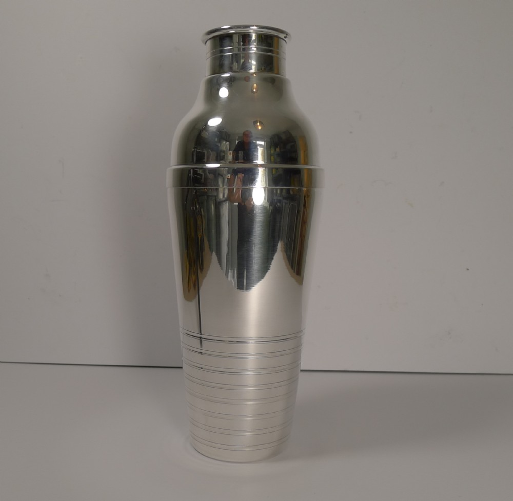 large french art deco cocktail shaker c1930