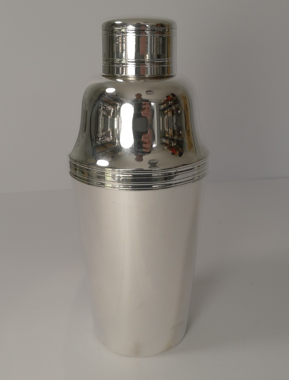 french art deco silver plated cocktail shaker circa 1930 by orbrille paris